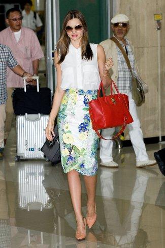 Miranda-looked-fresh-one-flowers-her-Erdem-skirt-when