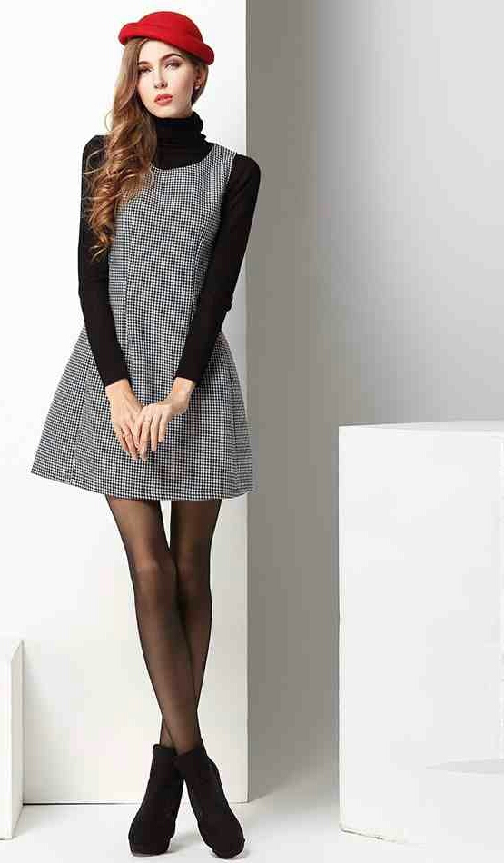 How to wear houndstooth trend the femininity mystique for Can i wear a sweater dress to a wedding