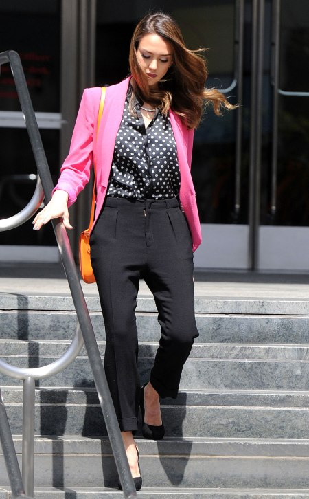 JESSICA ALBA Leaves a Meeting at AOL in Beverly Hills