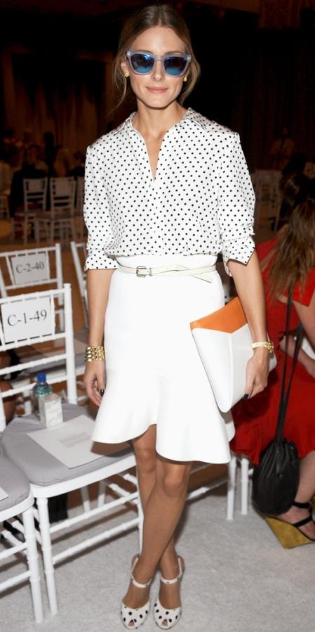 Olivia-Palermo-tibi shirt and sanlan and theodore skirt