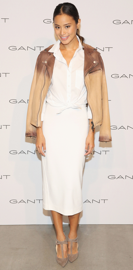 NEW YORK, NY - SEPTEMBER 10: Jamie Chung attends House of Gant Presentation during Spring 2016 New York Fashion Week on September 10, 2015 in New York City. (Photo by Robin Marchant/Getty Images)