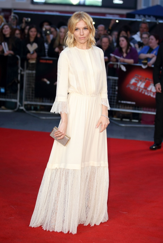 LONDON, ENGLAND - OCTOBER 09: Sienna Miller attends a screening of