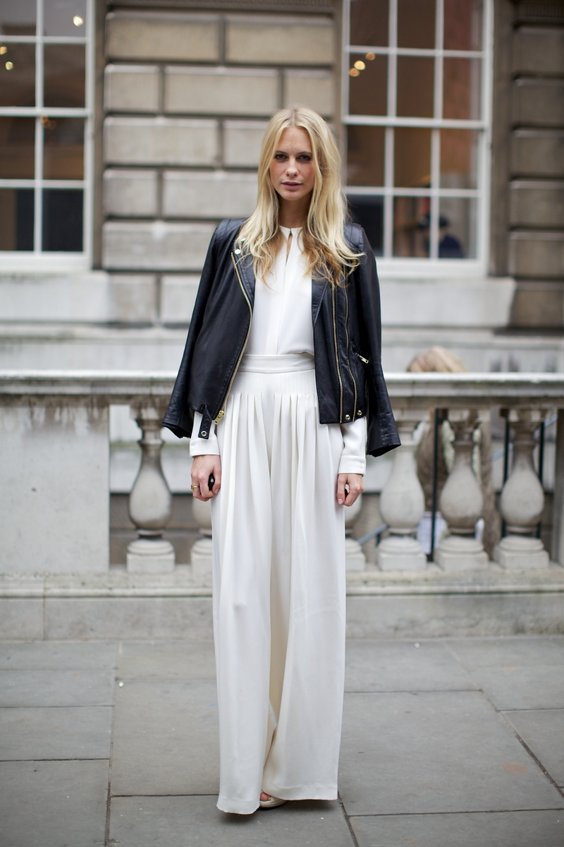 16bfd2b747 WEAR IT WITH A MAXI SKIRT : you can wear your leather jacket with a maxi  skirt and tucked in top and you can ad a belt like Poppy Delevingne.