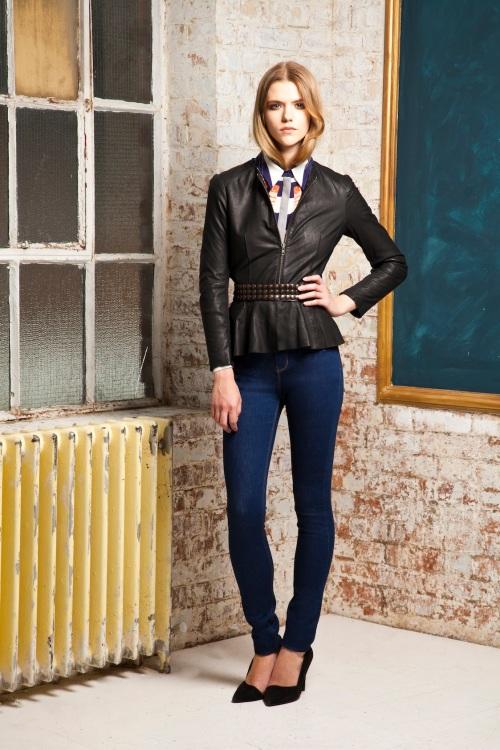 Donna-Ida-Mother-of-Pearls-Shirt-Muubaa-Leather-Biker-Jacket-IDA-Ivy-Skinny-Jeans-in-True-Blue