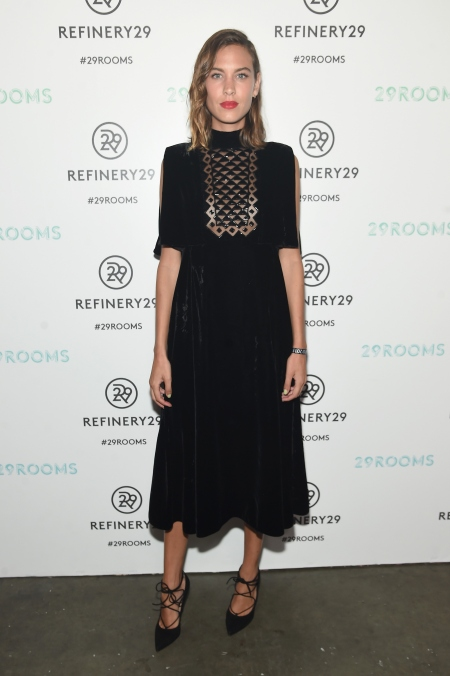 BROOKLYN, NY - SEPTEMBER 10: Alexa Chung attends the Refinery29 presentation of 29Rooms, a celebration of style and culture during NYFW 2015 on September 10, 2015 in Brooklyn, New York. (Photo by Jamie McCarthy/Getty Images for Refinery29)