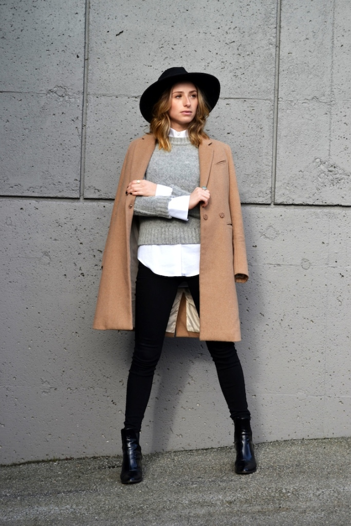 grey-sweater-white-zara-blouse-camel-coat-winter-must-have-fedora-hat-black-jeans-top-vancouver-fashion-and-style-blog-ombre-hair-booties4
